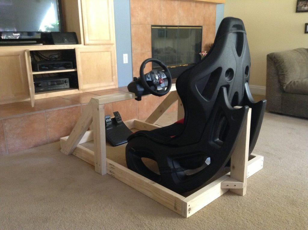 Sim Racing Rig selbst gebaut